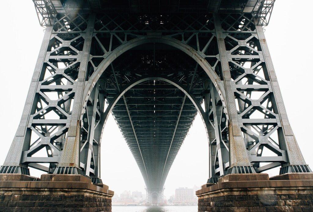 bridge, pylon, underneath